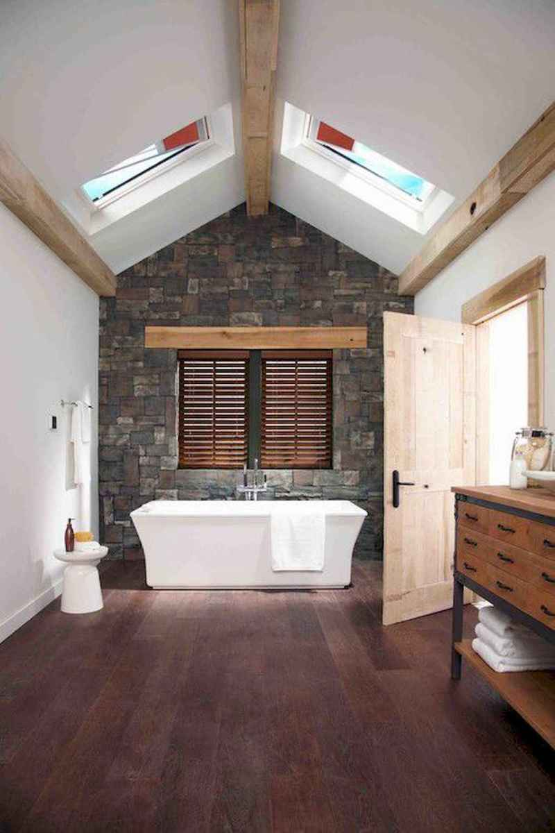 150 stunning farmhouse bathroom tile floor decor ideas and remodel to inspire your bathroom (79)