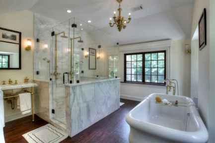 150 stunning farmhouse bathroom tile floor decor ideas and remodel to inspire your bathroom (90)
