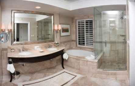 150 stunning farmhouse bathroom tile floor decor ideas and remodel to inspire your bathroom (92)