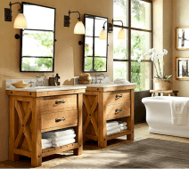 150 stunning small farmhouse bathroom decor ideas and remoddel to inspire your bathroom (1)