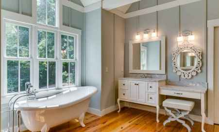 150 stunning small farmhouse bathroom decor ideas and remoddel to inspire your bathroom (106)