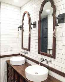 150 stunning small farmhouse bathroom decor ideas and remoddel to inspire your bathroom (52)