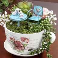 50 easy diy summer gardening teacup fairy garden ideas (27)
