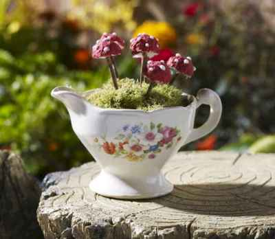 50 easy diy summer gardening teacup fairy garden ideas (28)