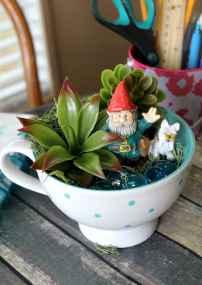 50 easy diy summer gardening teacup fairy garden ideas (35)
