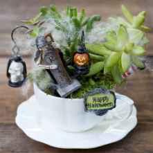 50 easy diy summer gardening teacup fairy garden ideas (36)