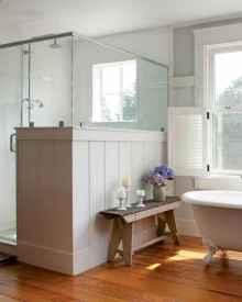 70 inspiring farmhouse bathroom shower decor ideas and remodel to inspire your bathroom (10)