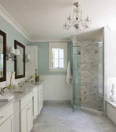 80 awesome farmhouse master bathroom decor ideas and remodel to inspire your bathroom (3)