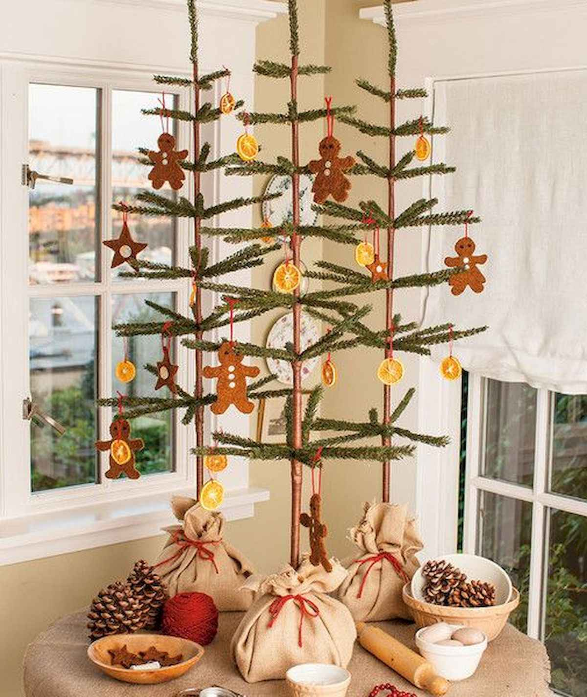 30 rustic and vintage christmas tree ideas decorations (17)