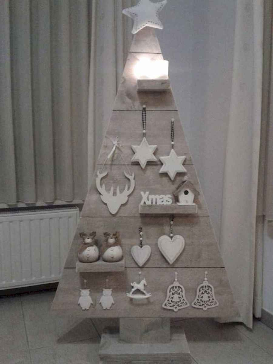 30 rustic and vintage christmas tree ideas decorations (19)