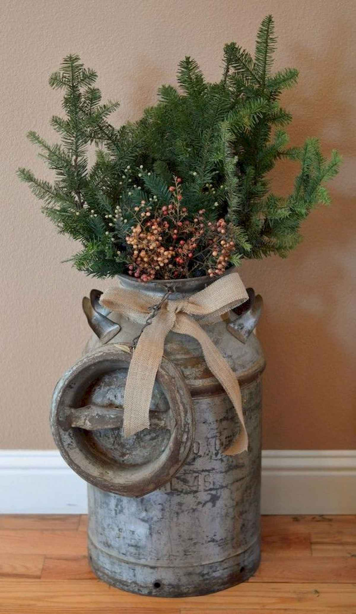 30 rustic and vintage christmas tree ideas decorations (21)