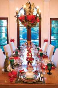 50 stunning christmas table dining rooms ideas decorations (17)