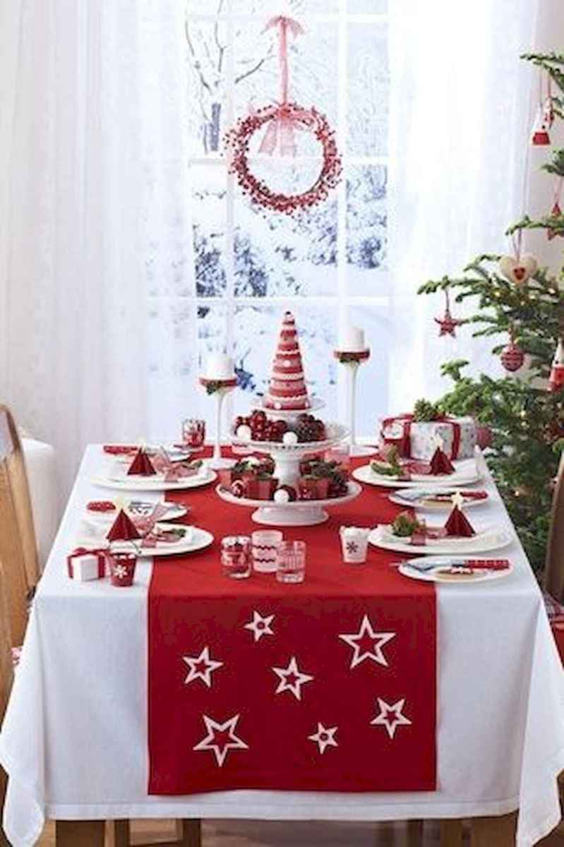 50 stunning christmas table dining rooms ideas decorations (19)