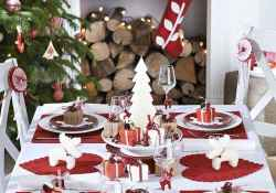 50 stunning christmas table dining rooms ideas decorations (22)