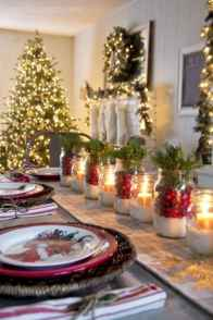 50 stunning christmas table dining rooms ideas decorations (43)