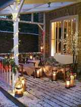 50 stunning front porch christmas lights decorations ideas (21)