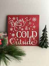 60 awesome wall art christmas ideas decorations (41)