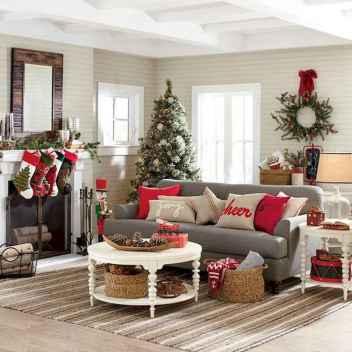 60 simple living room christmas decorations ideas (13)