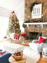 60 simple living room christmas decorations ideas (15)