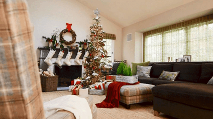 40 cheap and easy christmas decorations for your apartment ideas (1)