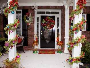 50 christmas front porch decor ideas and remodel (42)