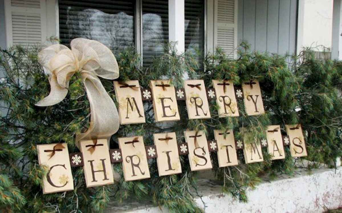 50 stunning outdoor christmas decor ideas and makeover (47)