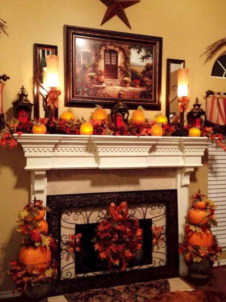 40 elegant fall mantle decor ideas (38)