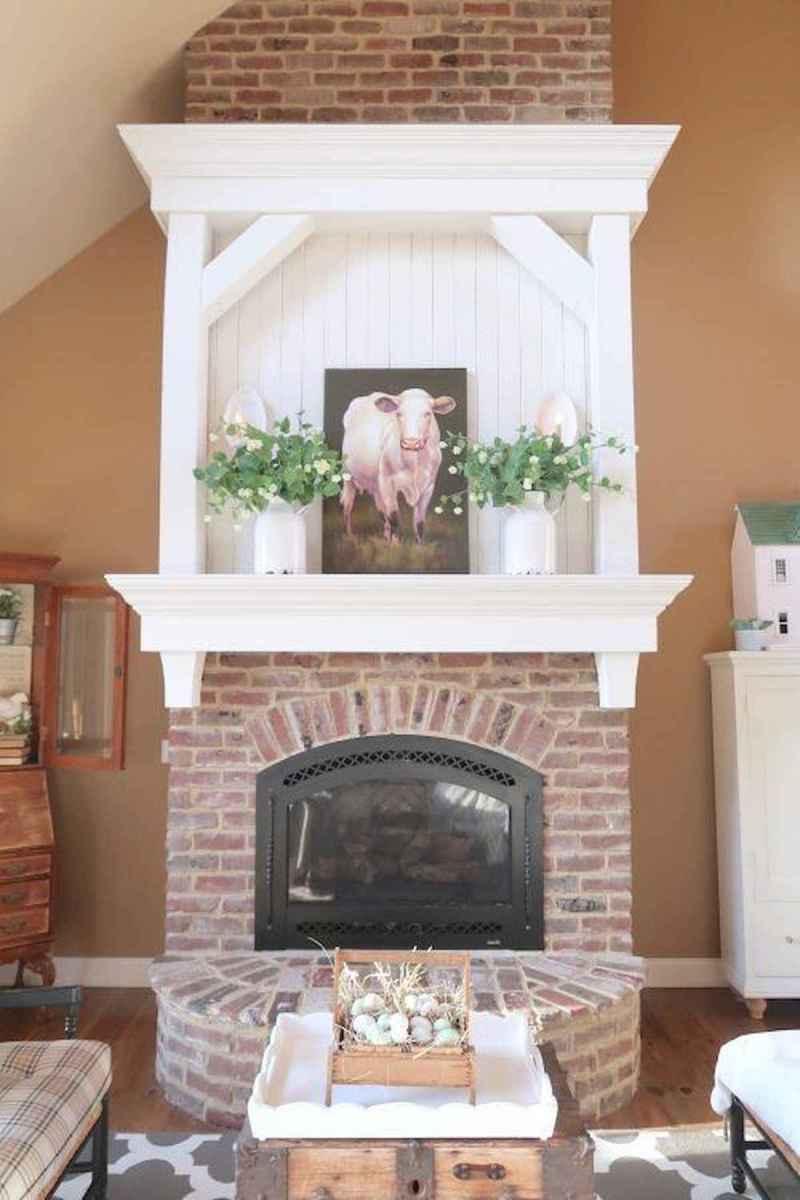 40 elegant fireplace makeover for farmhouse home decor (1)