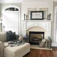 40 elegant fireplace makeover for farmhouse home decor (23)