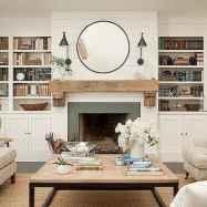 40 elegant fireplace makeover for farmhouse home decor (3)