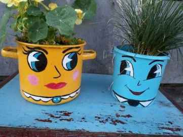 50 creative container gardening flowers ideas decorations (45)