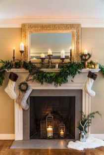 50 elegant christmas mantle decor ideas (33)