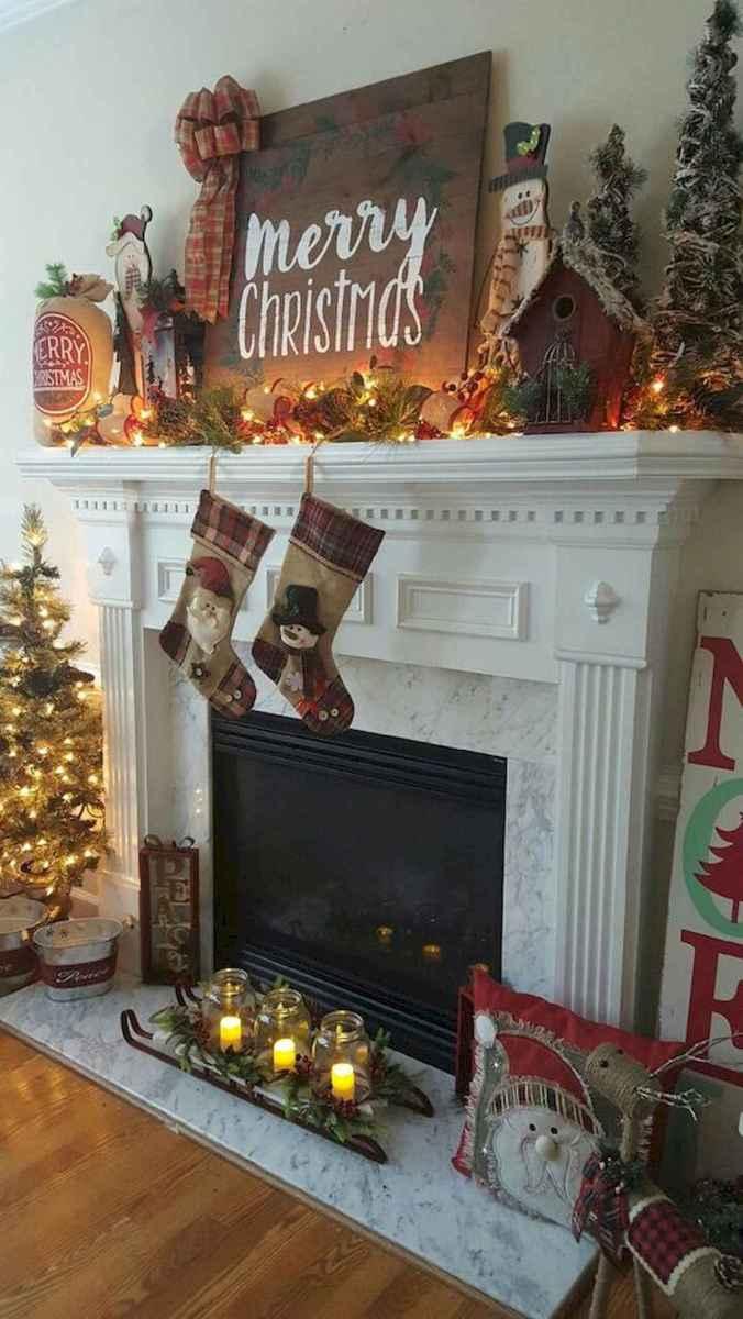 50 elegant christmas mantle decor ideas (45)
