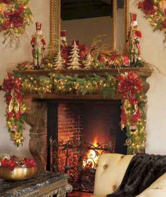 50 elegant christmas mantle decor ideas (8)