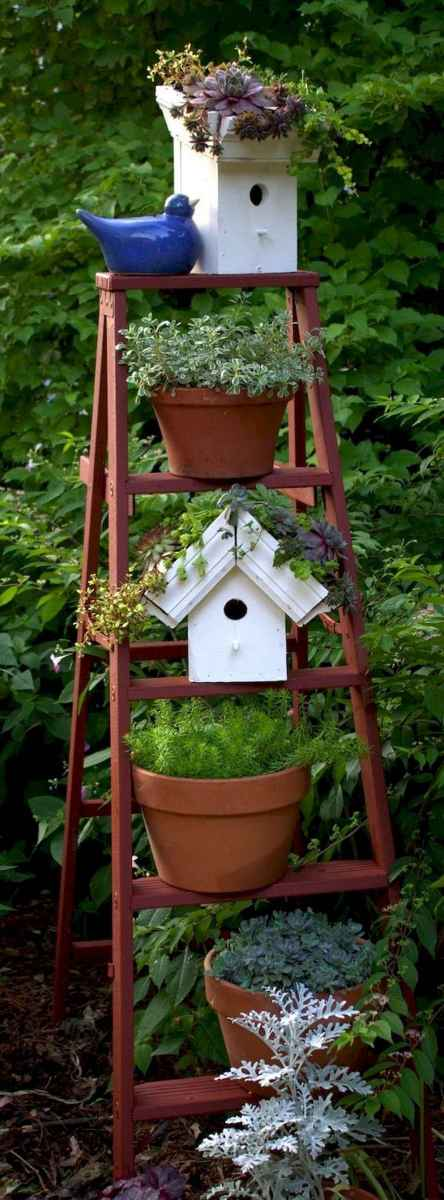 50 unique and creative ladder in the garden design ideas and remodel (24)