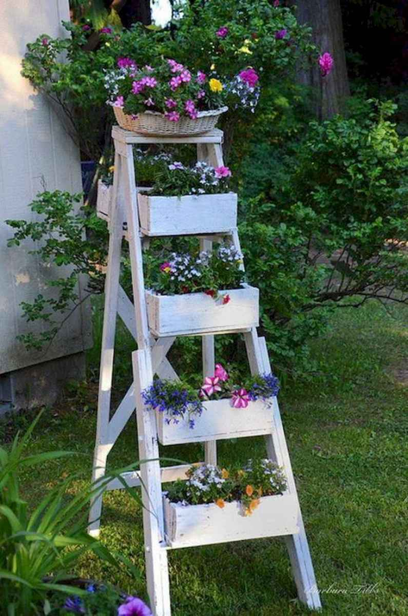 50 unique and creative ladder in the garden design ideas and remodel (3)