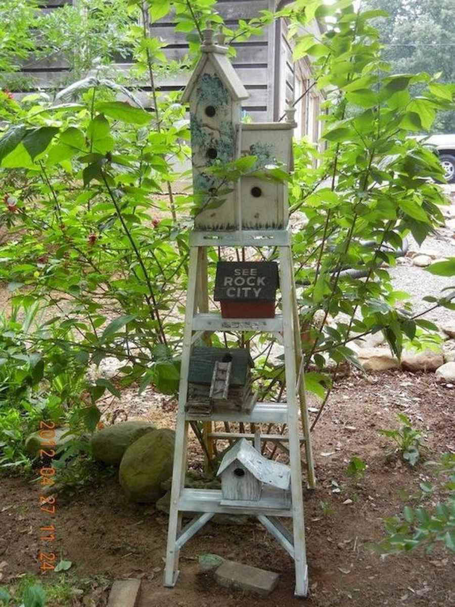 50 unique and creative ladder in the garden design ideas and remodel (49)