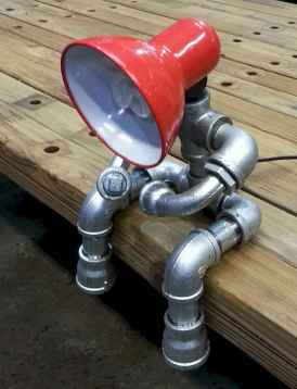 35 creative diy industrial pipe lamp design ideas robot to decor your home (22)