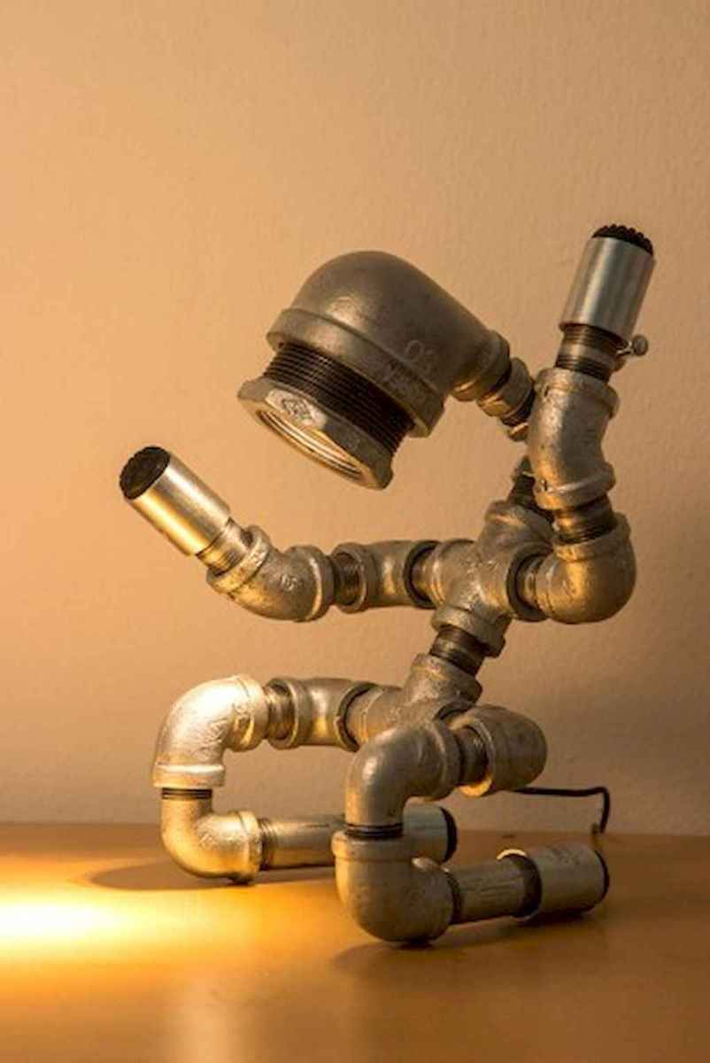 35 creative diy industrial pipe lamp design ideas robot to decor your home (26)