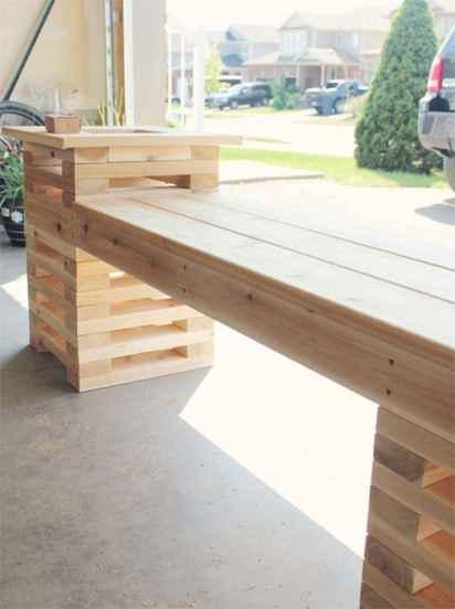40 cheap diy outdoor bench design ideas for backyard & frontyard (12)