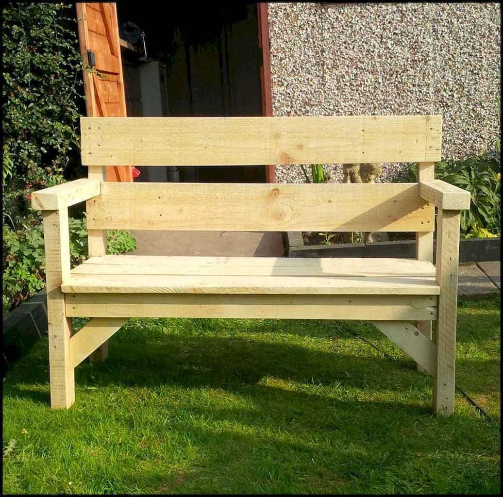 40 cheap diy outdoor bench design ideas for backyard & frontyard (18)