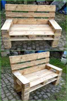 40 cheap diy outdoor bench design ideas for backyard & frontyard (19)