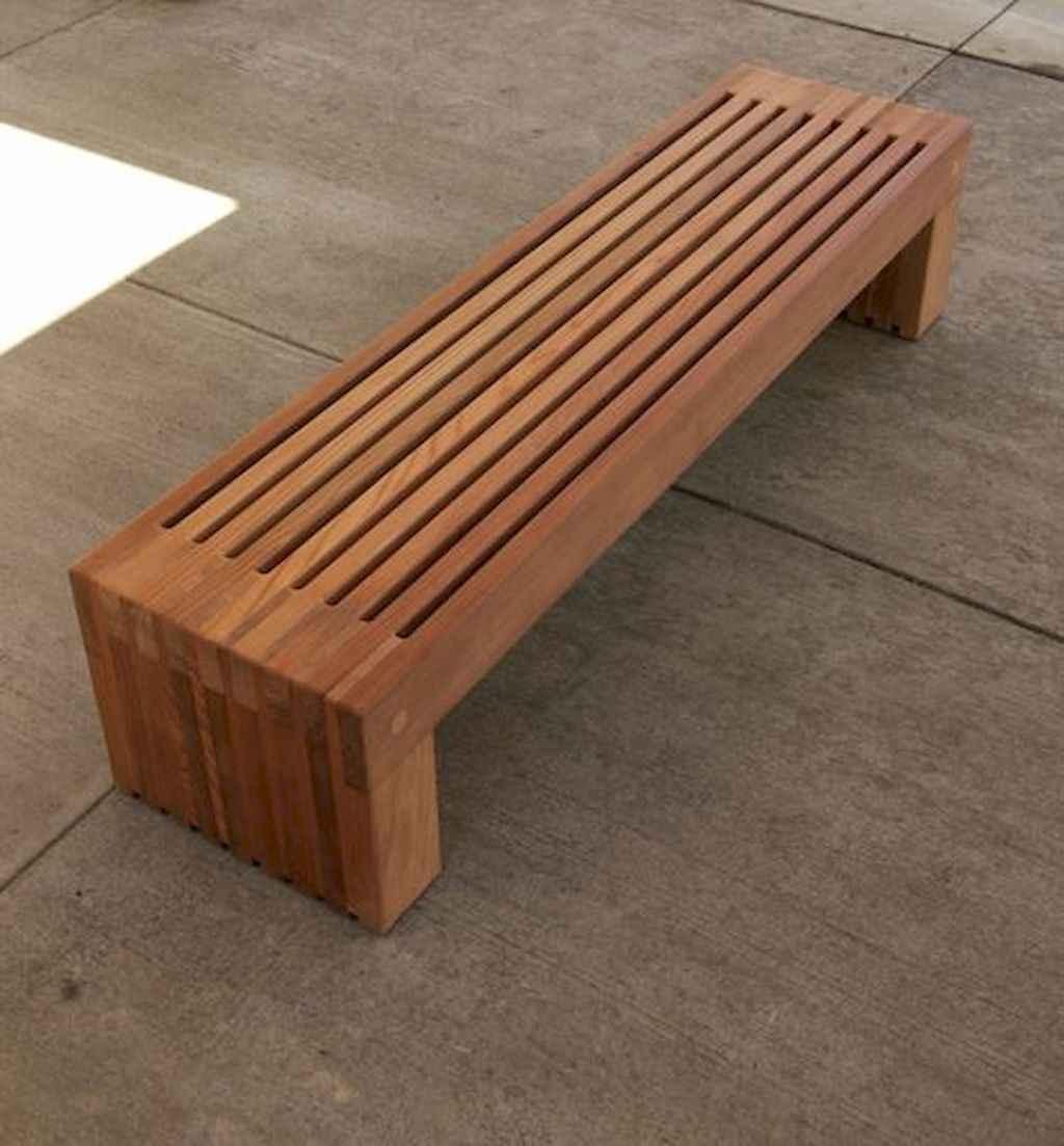 40 cheap diy outdoor bench design ideas for backyard & frontyard (24)