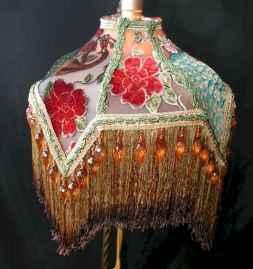 40 vintage victorian lamp shades ideas for decorating bedroom diy (33)