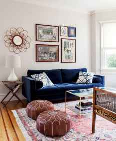 44 modern bohemian living room ideas for small apartment (11)