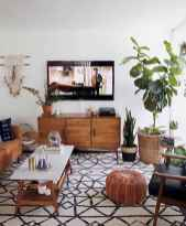 44 modern bohemian living room ideas for small apartment (15)