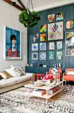 44 modern bohemian living room ideas for small apartment (18)