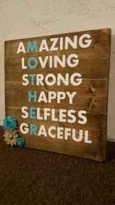 48 rustic wood sign ideas with motivation quotes (13)