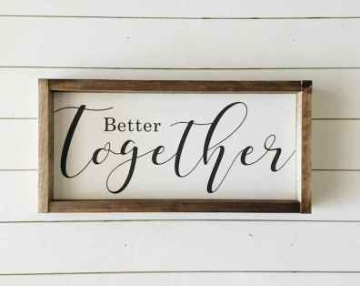 48 rustic wood sign ideas with motivation quotes (17)