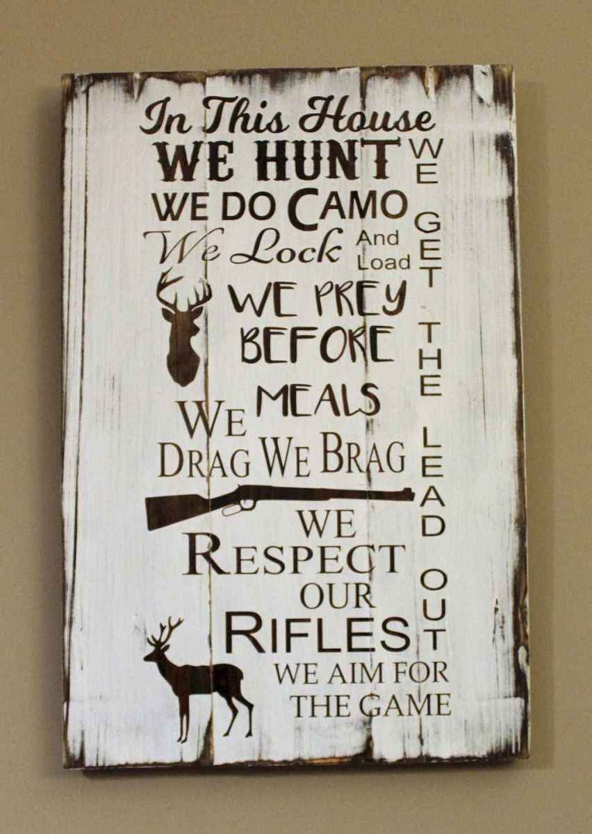 48 rustic wood sign ideas with motivation quotes (41)
